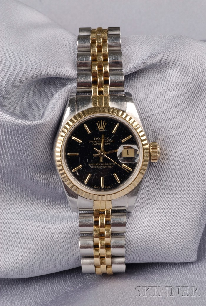 Lady's Stainless Steel and 18kt Gold Wristwatch, Rolex