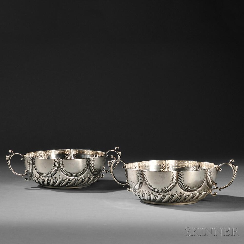 Pair of George II Sterling Silver Bowls