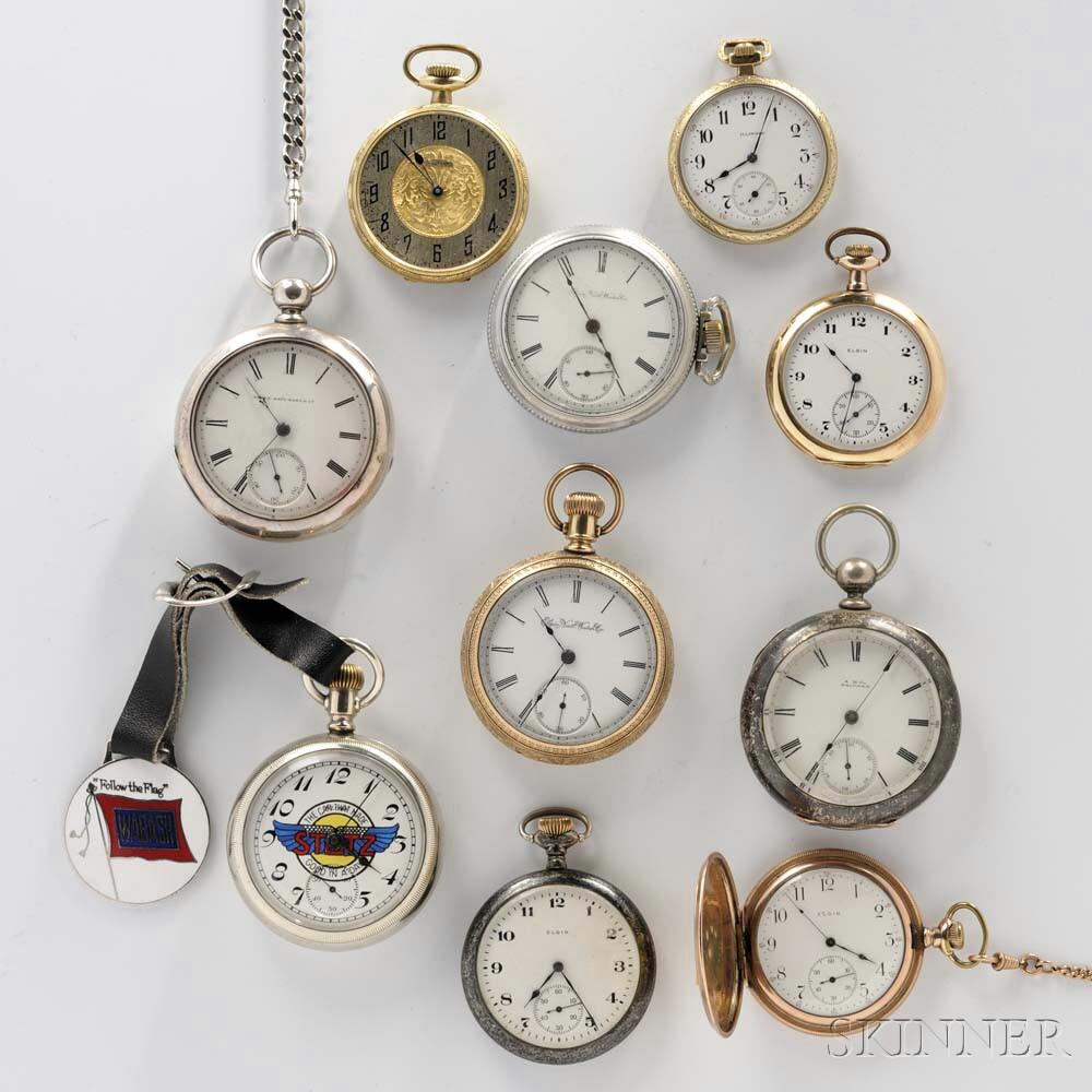 Ten American Pocket Watches