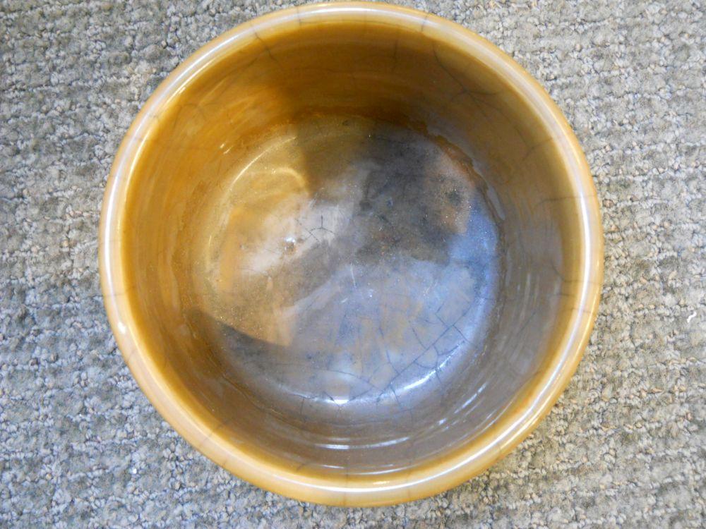 Cafe-au-Lait Crackle-glazed Censer