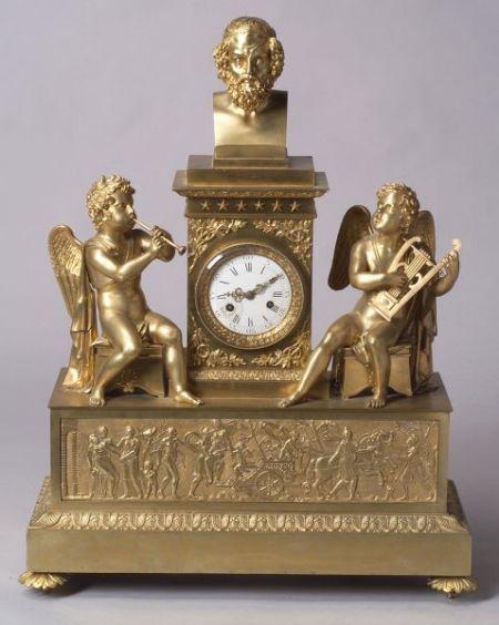 Large French Louis XVI-style Gilt Bronze Mantel Clock