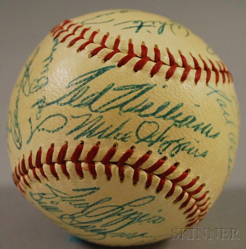 1955 Boston Red Sox Autographed Baseball