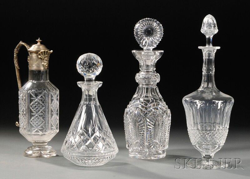 Four Assorted Pieces of Crystal