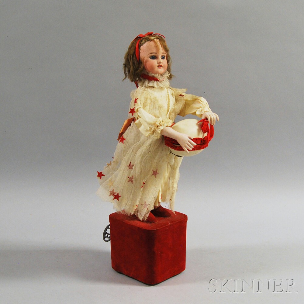 French Bisque Head Automaton Doll