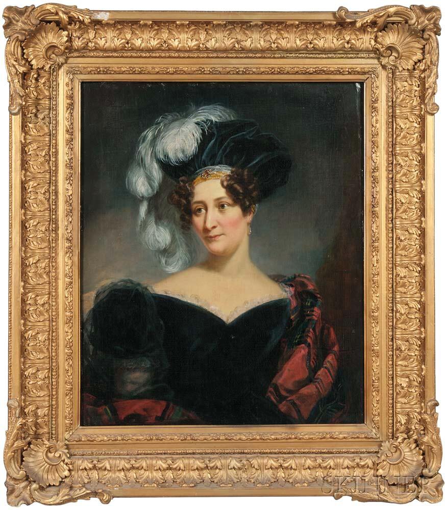 Philip Augustus Gaugain (British, fl. 1783-1847)      Portrait of Harriett Webb Lucas