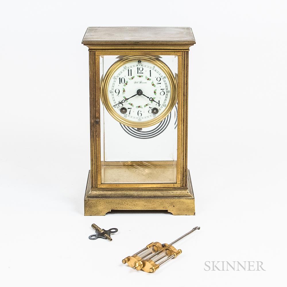 Seth Thomas Crystal Regulator Shelf Clock
