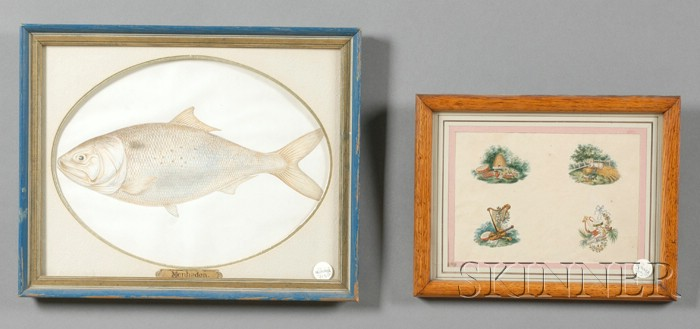 Two Framed Watercolor Works on Paper