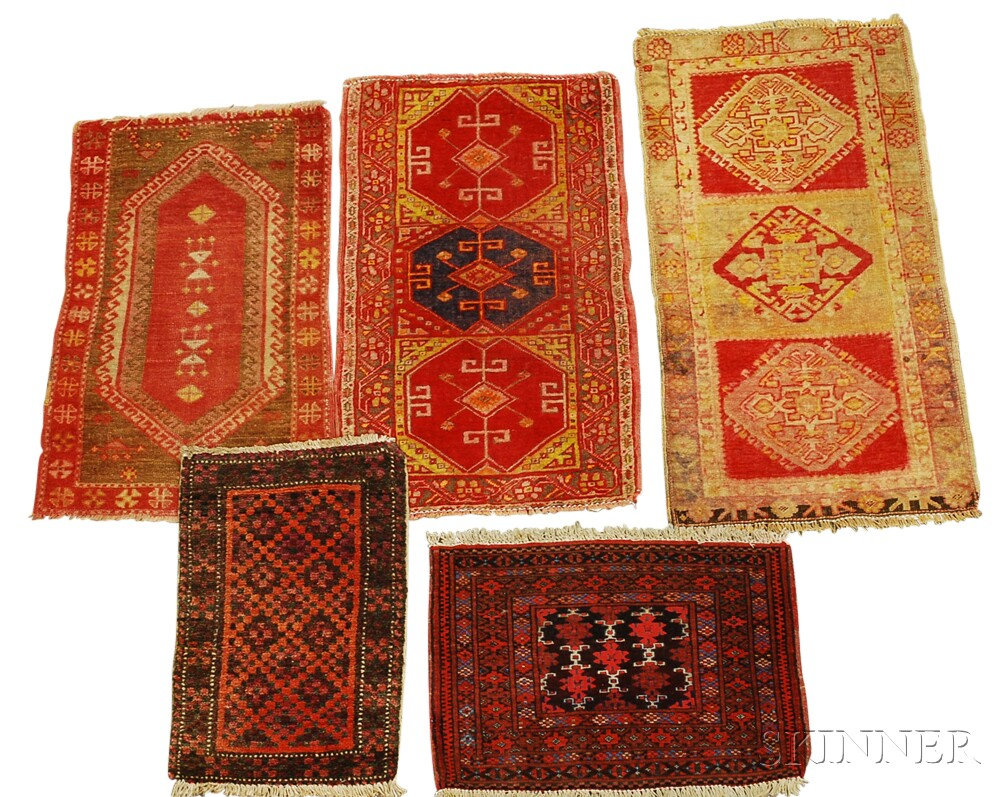 Collection of Five Small RugsCollection of Five Small Rugs