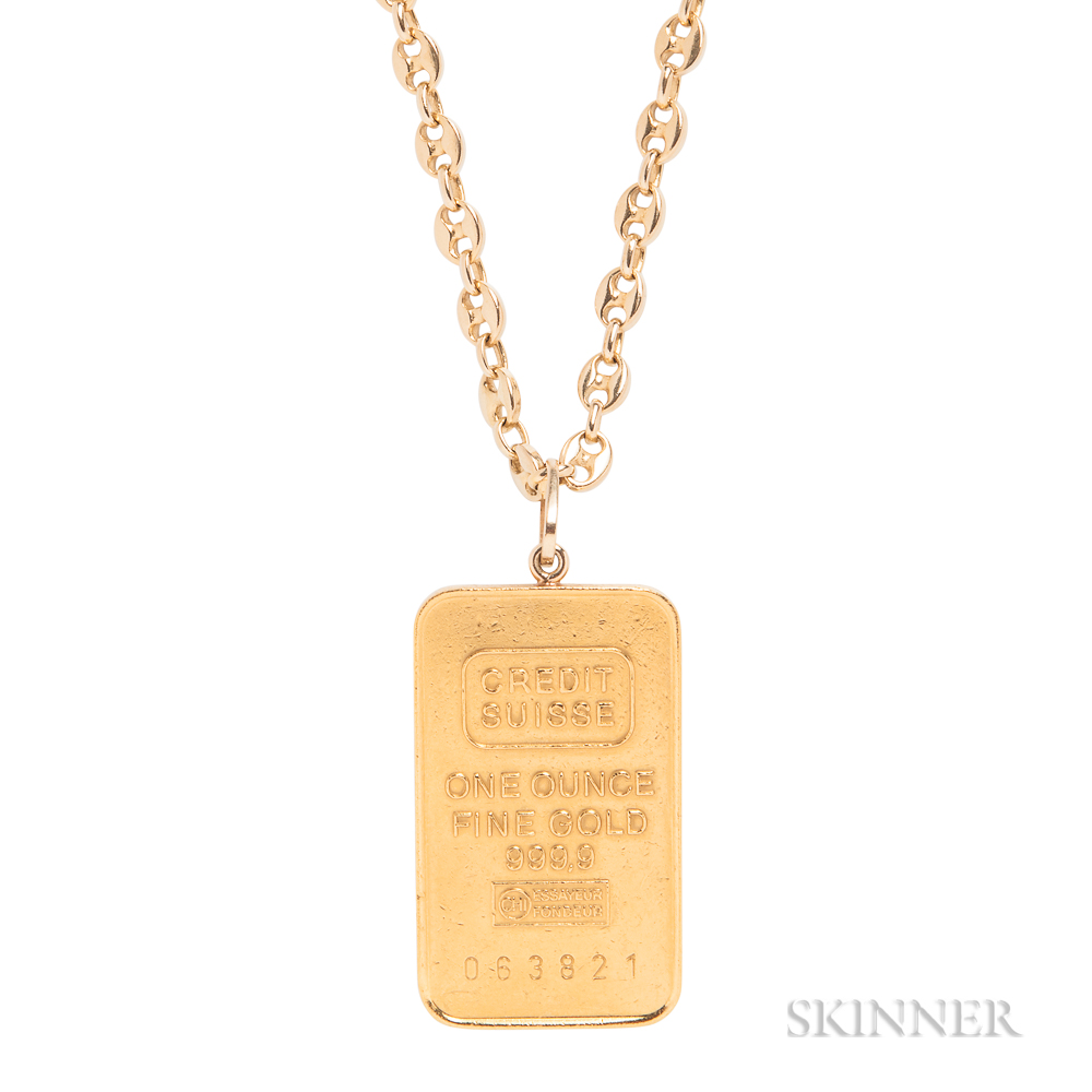 Gold Pendant and Chain