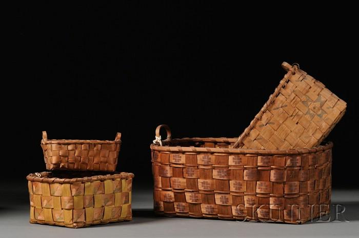 Four Northeast Splint Baskets