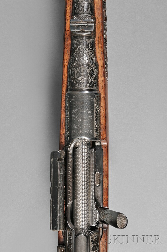 Engraved and Carved Model 1952 Mannlicher Schoenauer with Scope