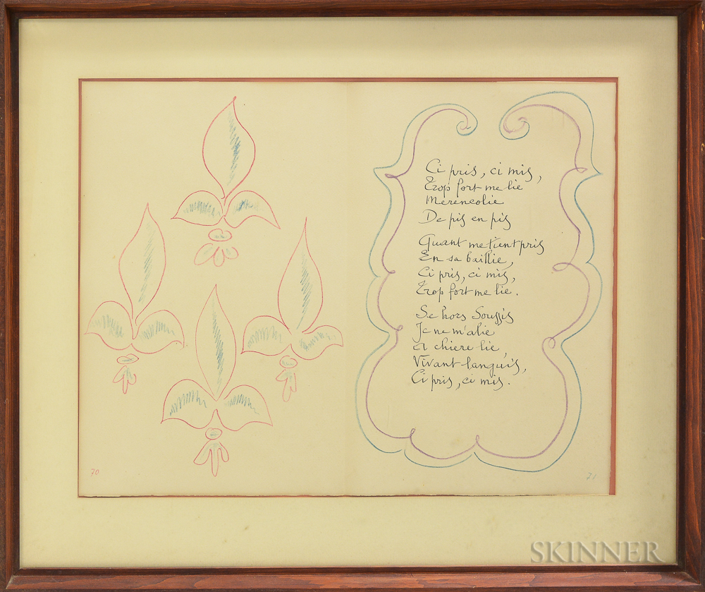 Framed Mourlot Lithograph After Henri Matisse