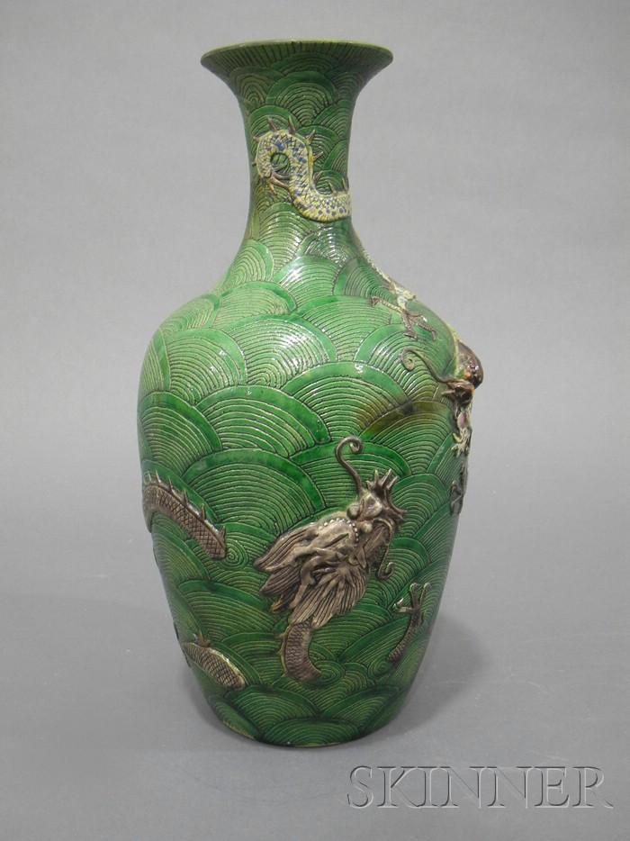 Green Dragon Vase
