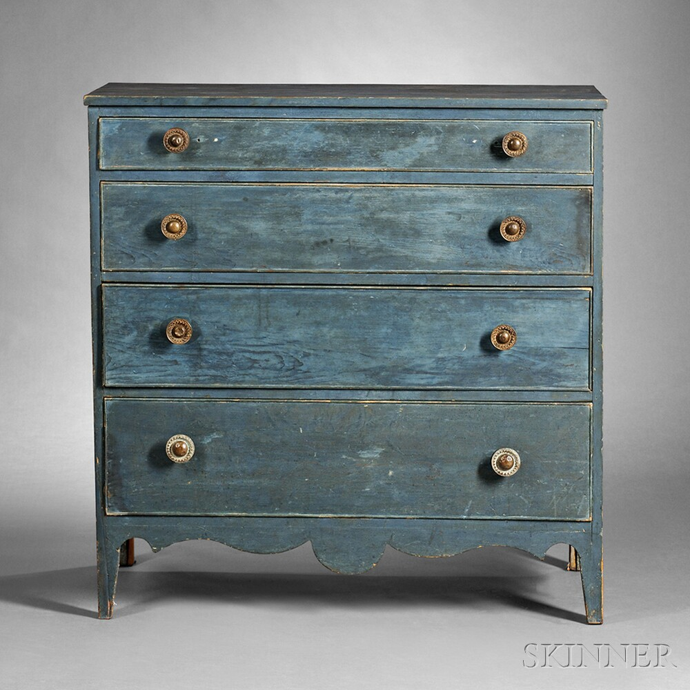blue painted pine chest of drawers sale number 2744m. Black Bedroom Furniture Sets. Home Design Ideas