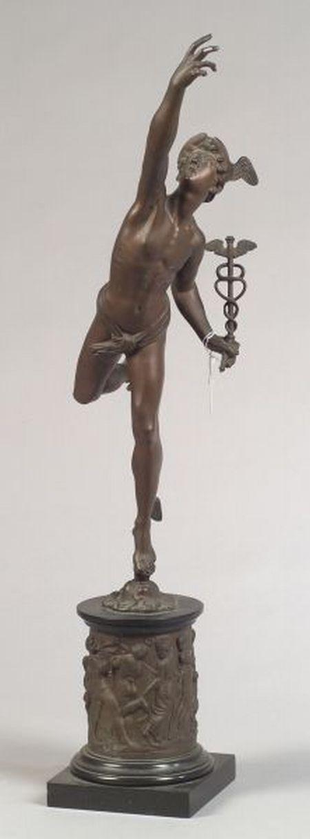 """Grand Tour"" Bronze Figure of Giambologna's Mercury"