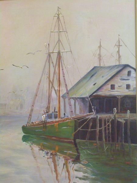 Framed Oil on Canvas of Cape Ann View