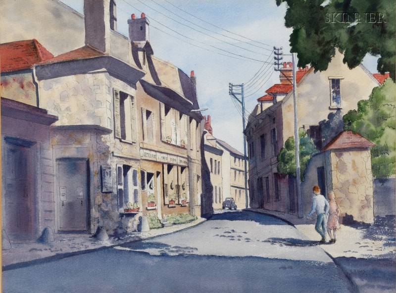Eleanor Rawls (American, 20th Century)      Quiet Street, South of France