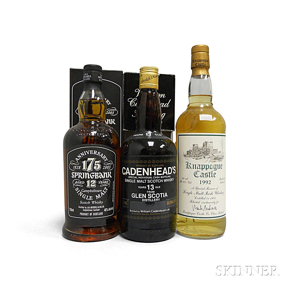 Mixed Single Malt Whisky, 3 750ml bottles