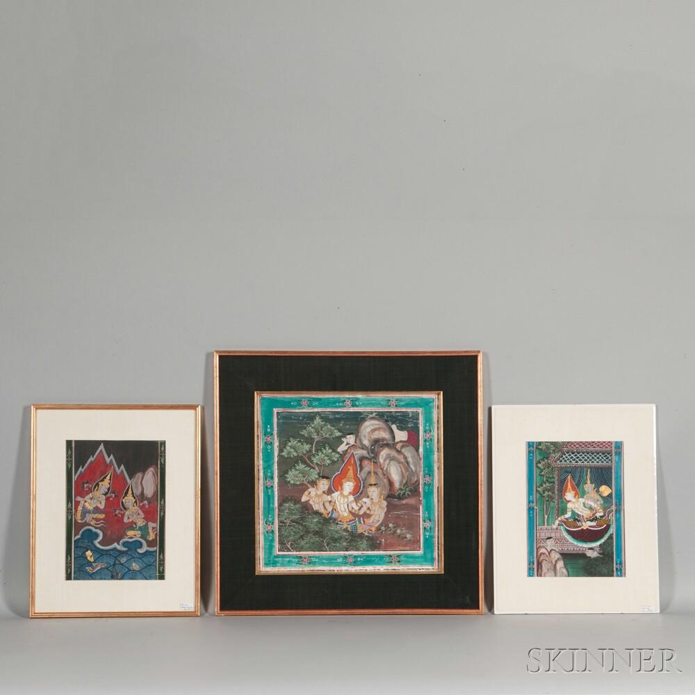 Three Buddhist Paintings