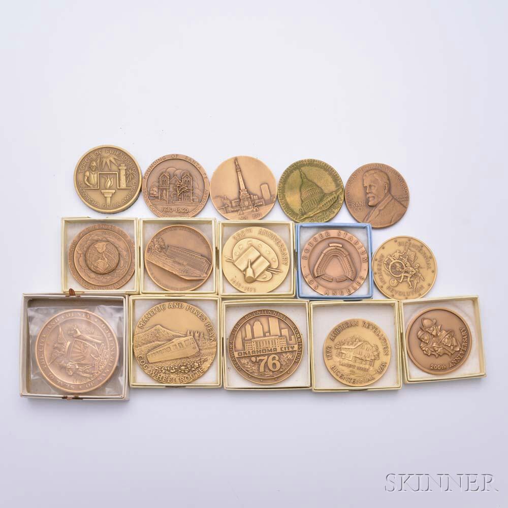 Fifteen Commemorative Bronze Medals