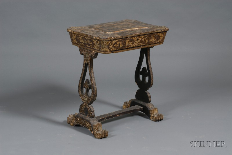 Lacquerware Sewing Table