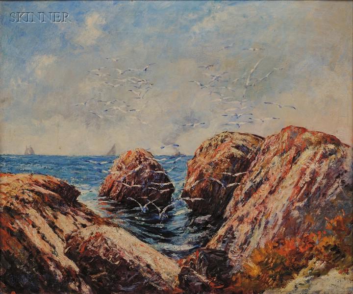 Philip Little (American, 1857-1942)      Coastal View/Possibly Swampscott, Massachusetts