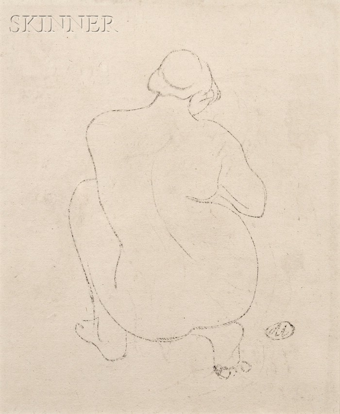 Aristide Maillol (French, 1861-1944)      Portrait of a Female Nude