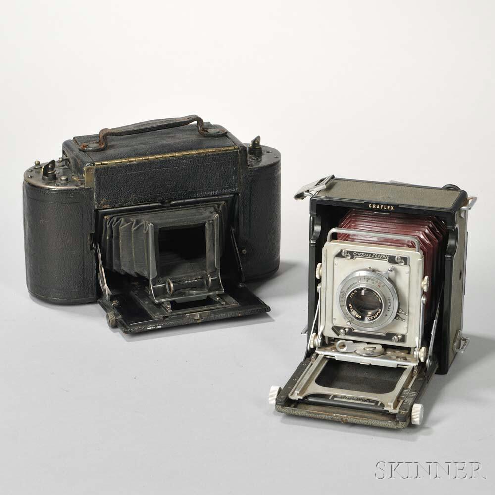 Century Graphic and Graflex 1A Cameras