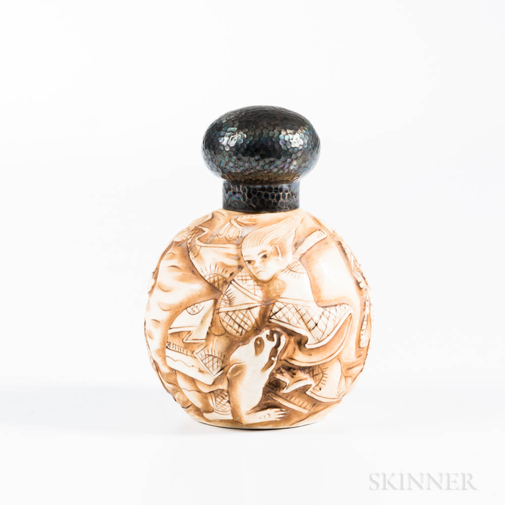 Carved Porcelain Netsuke-form Perfume