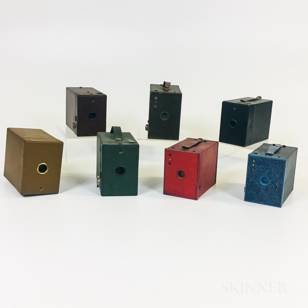 Seven Colorful Kodak Box Cameras