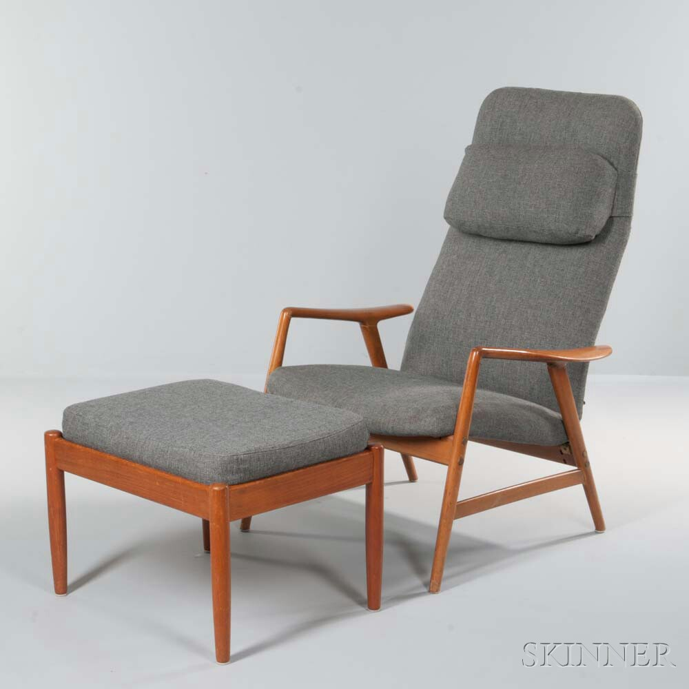 Scandinavian Lounge Chair and Ottoman