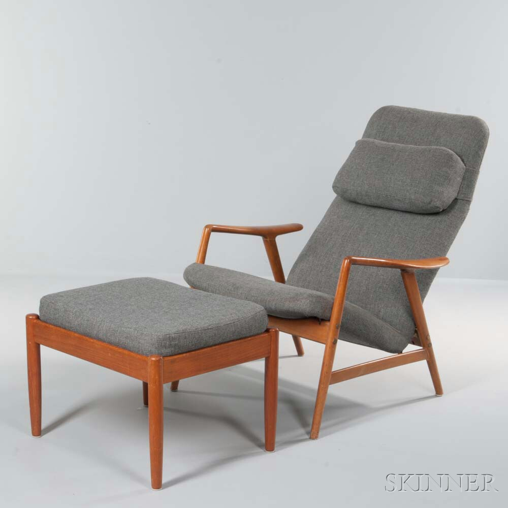 Scandinavian Lounge Chair and Ottoman
