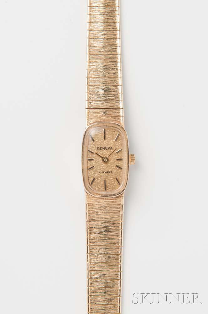 Geneva 14kt Gold Lady's Wristwatch
