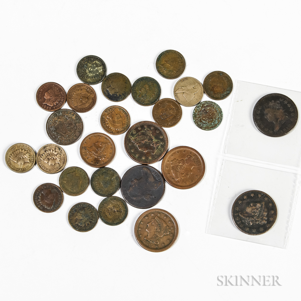 Small Group of Cents and Half Cents