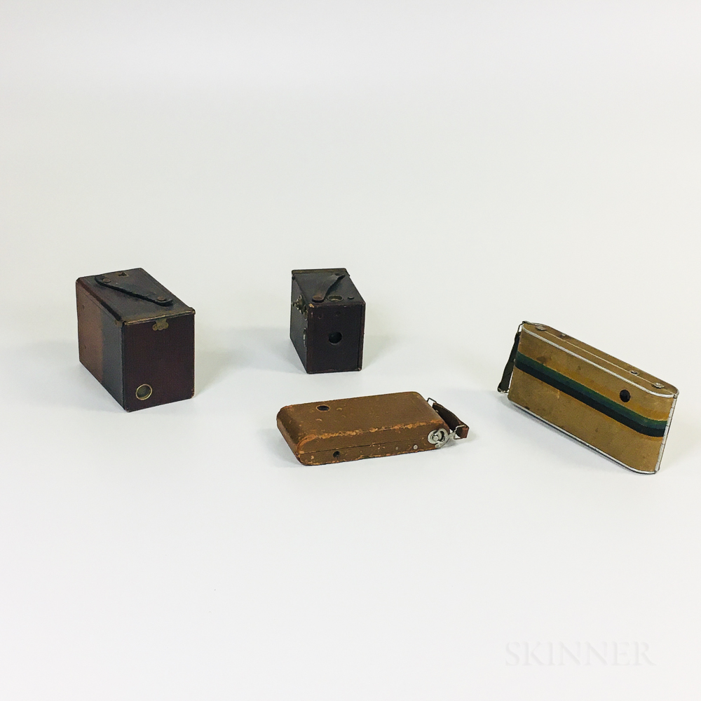 Agfa No. 1 Readyset, Readyset Traveler, and Two Other Ansco Cameras