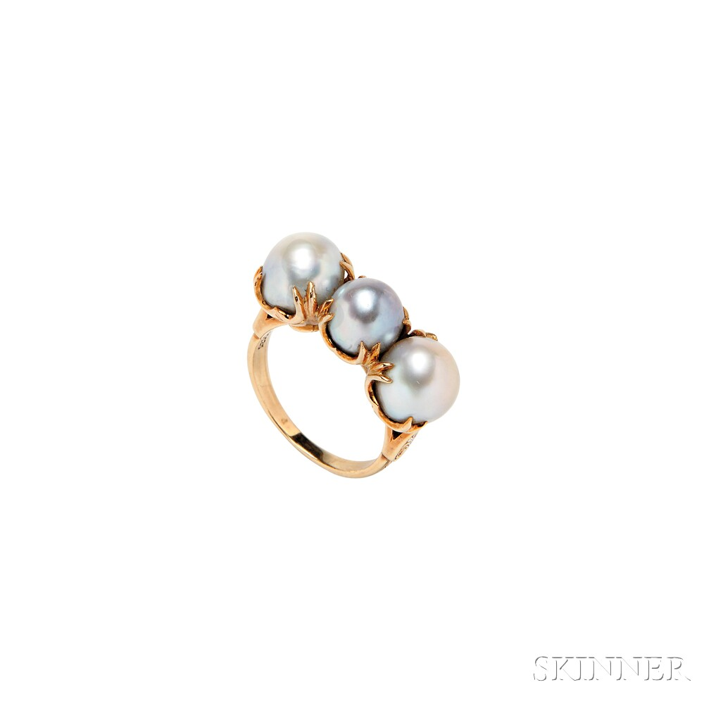 14kt Gold and Pearl Ring