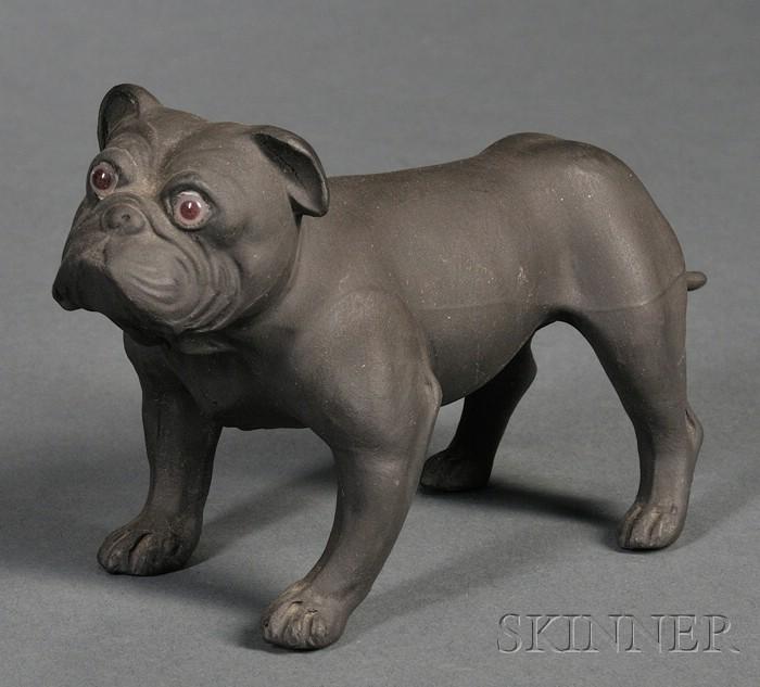 Wedgwood Black Basalt Bulldog