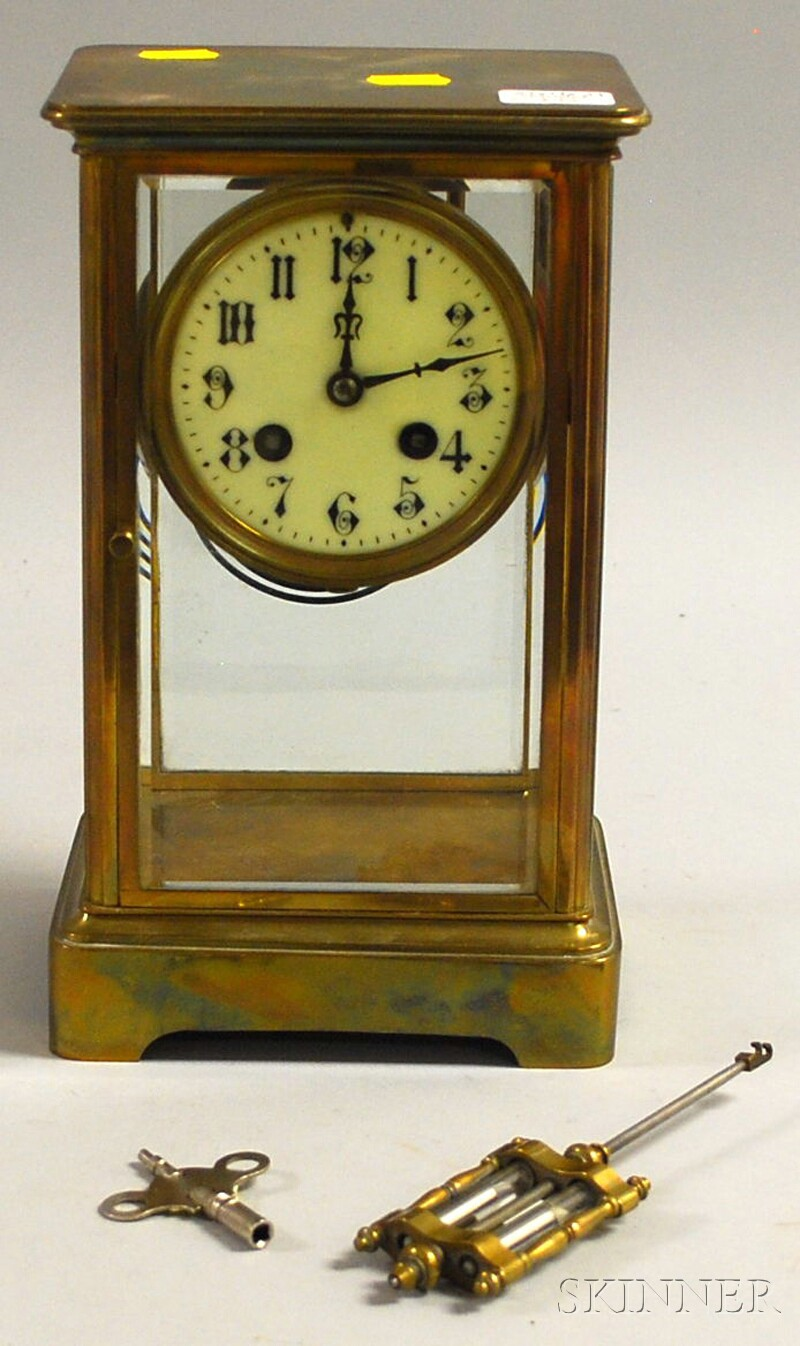 Japy Freres French Brass-mounted Regulator Clock