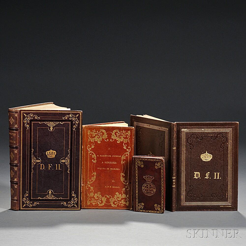 Portuguese Imprints in Royal Armorial Bindings, 1820-1881, Four Volumes.