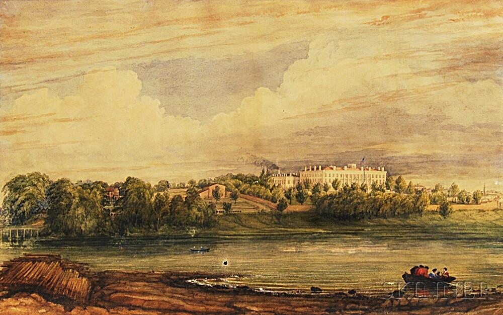 American School, 19th Century       View of the Washington, D.C., Post Office.