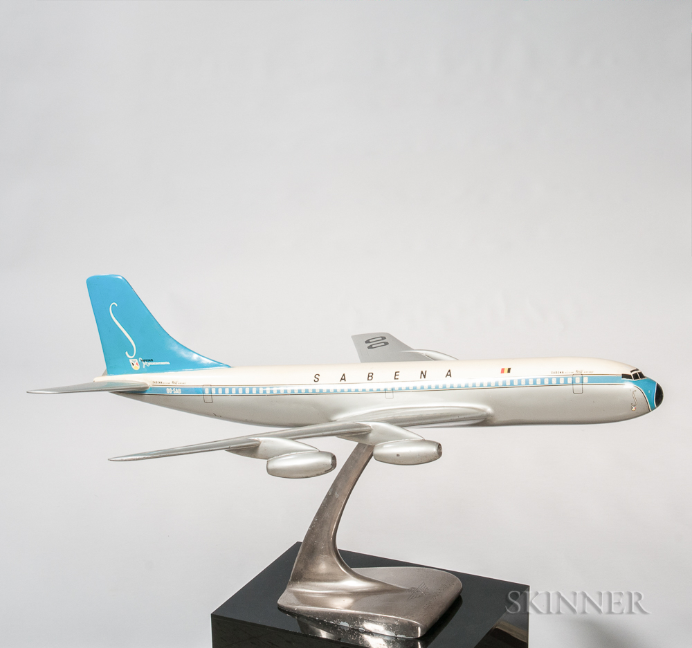 Sabena Belgian World Airlines Travel Agency Aviation Model with Display Plinth