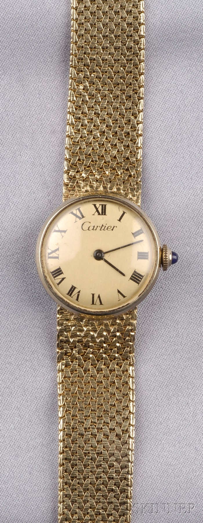 Lady's 14kt Gold Wristwatch, Cartier
