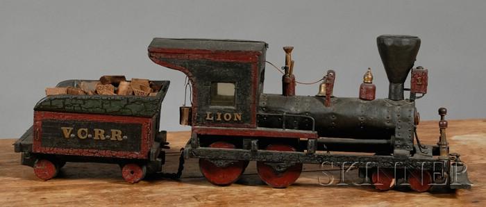 Scratch-built Vermont Central Railroad Steam Locomotive and Tender
