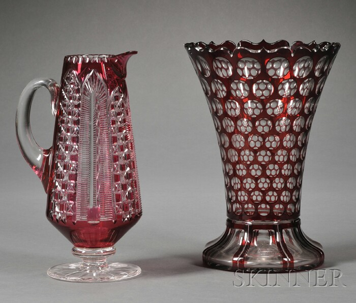 Two Pieces of Overlay Glass