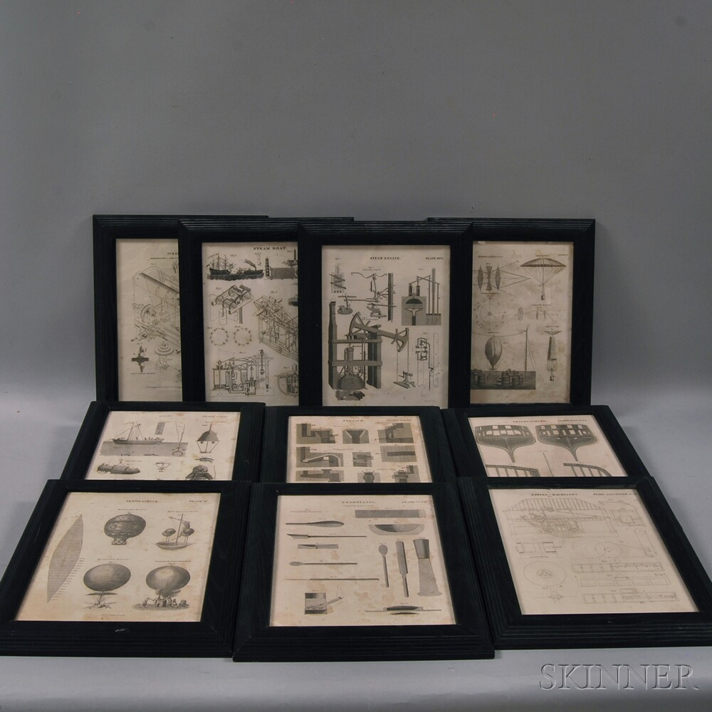 Ten Science-related Framed Book Plates