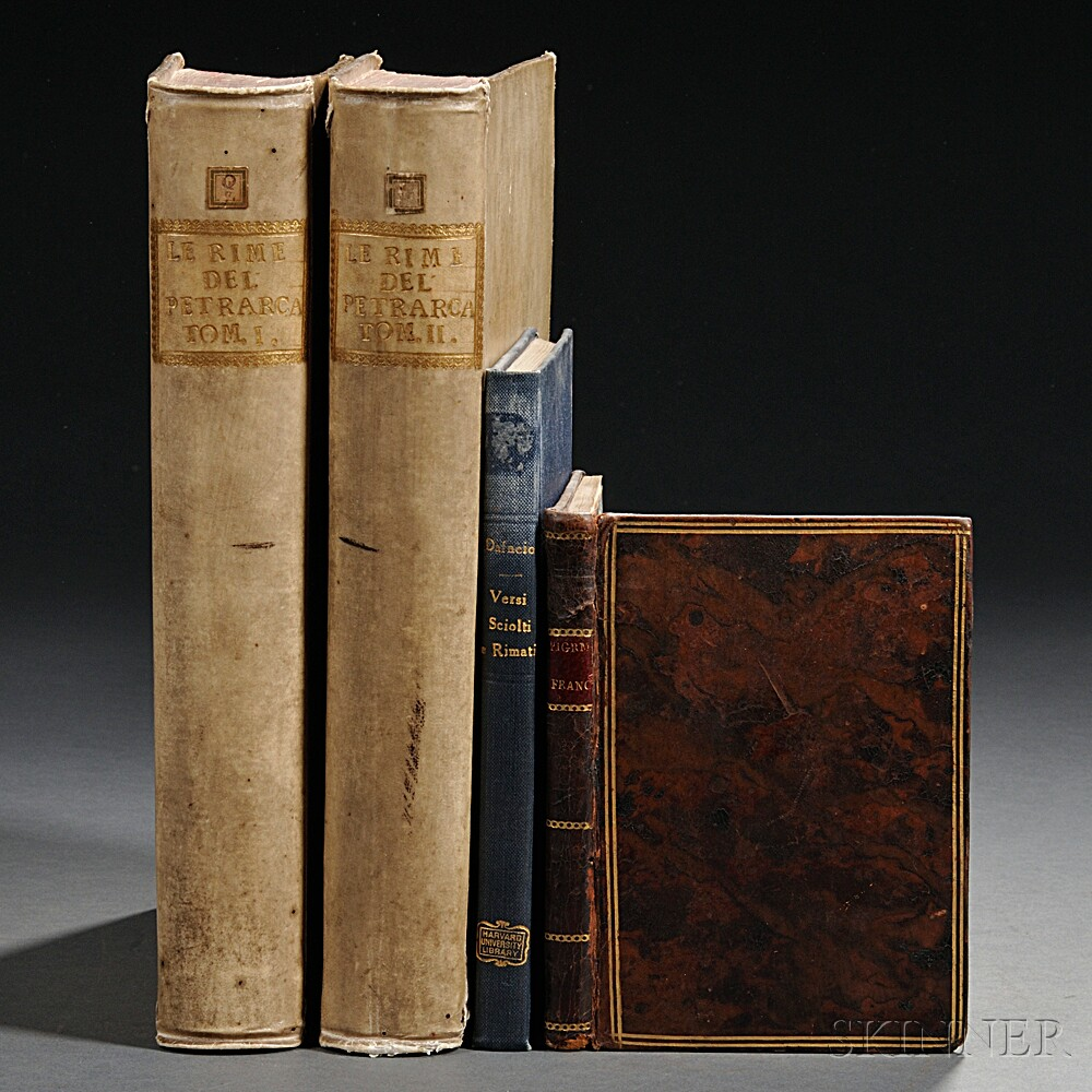 Italian Imprints, Three Works in Four Volumes, 1756-1798.
