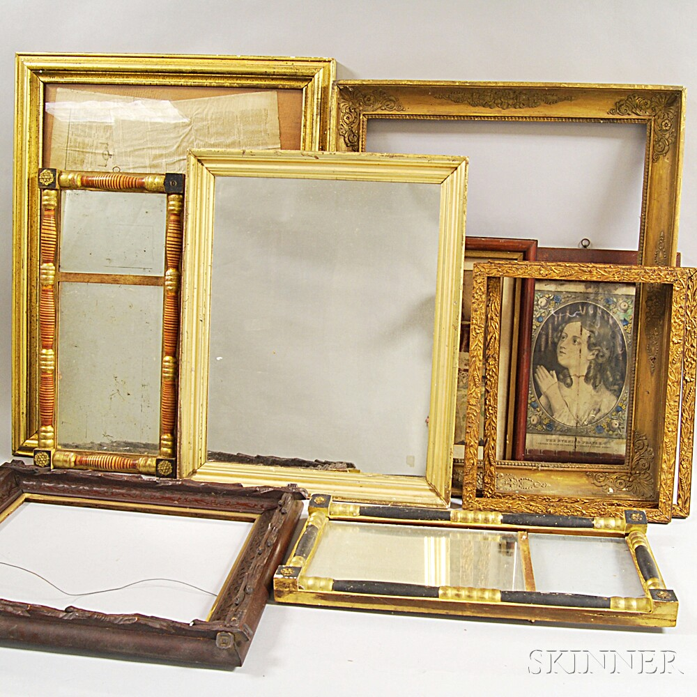 Group of Antique Frames and Mirrors