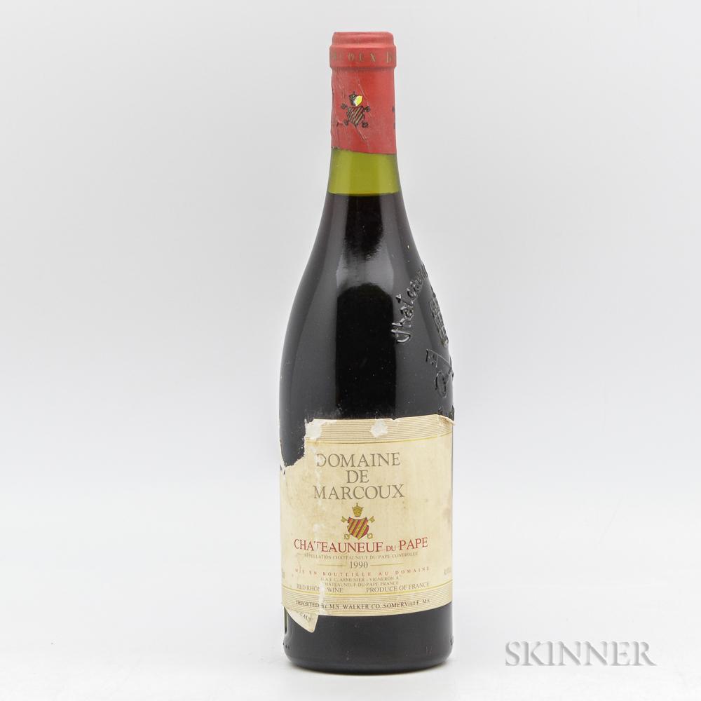Domaine de Marcoux Chateauneuf du Pape 1990, 1 bottle