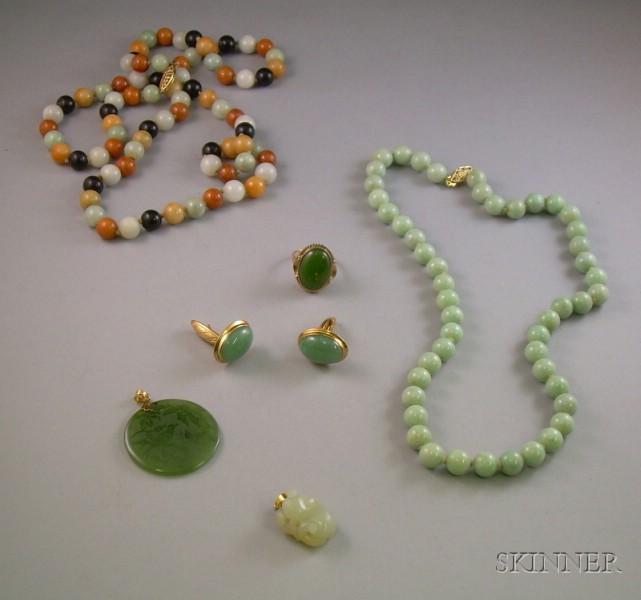 Group of Jade Jewelry
