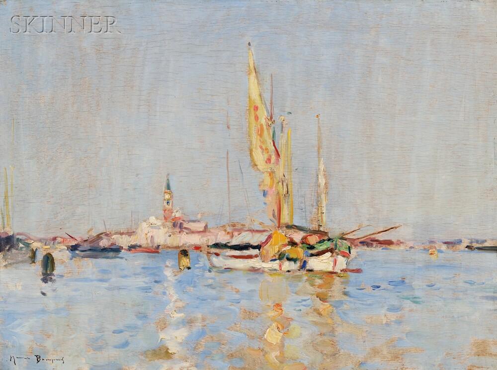 Maurice Bompard (French, 1857-1936)      Venice Lagoon, Looking Toward San Giorgio Maggiore